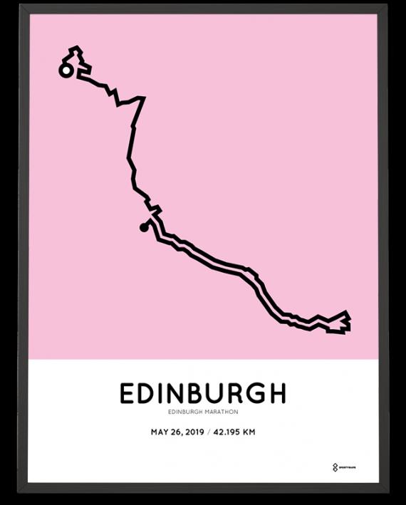 2019 Edinburgh marathon sportymaps route poster