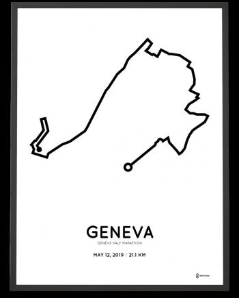 2019 Geneva half marathon routemap print