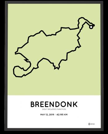 2019 Great Breweries marathon course poster
