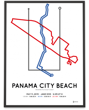 2019 Ironman 70.3 Gulf Coast course poster