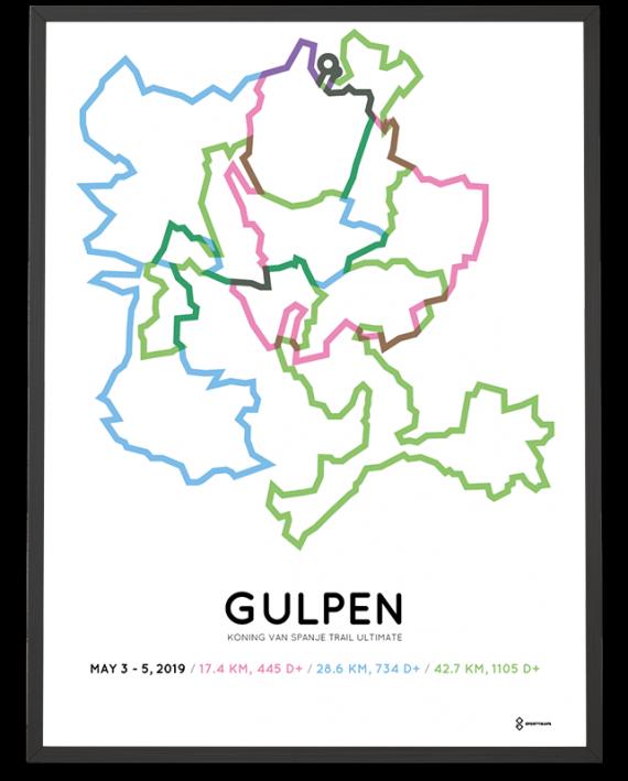 2019 Koning van spainje trail ultimate routemap sportymaps poster