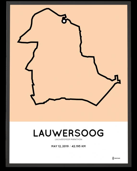 2019 Lauwersmeer marathon route poster sportymaps