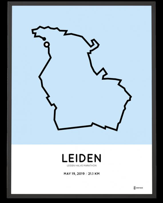 2019 Leiden halve marathon parcours poster