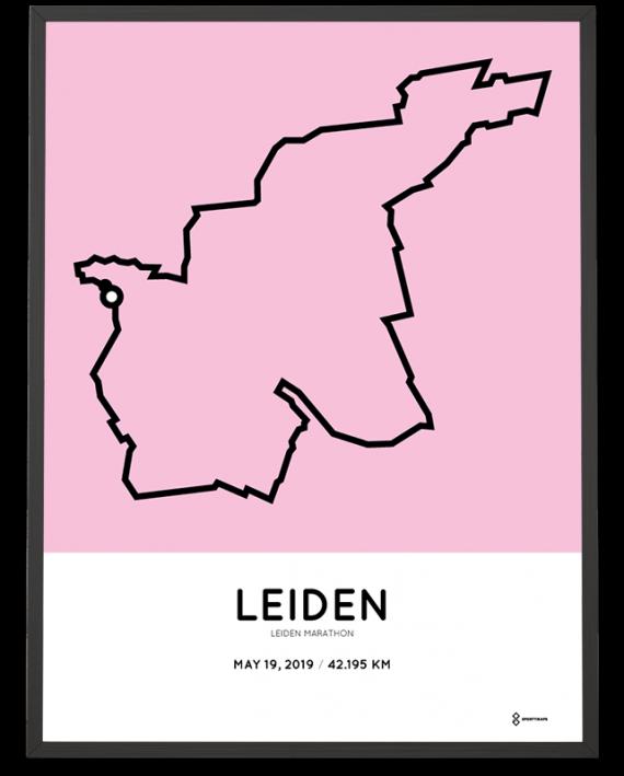 2019 Leiden marathon parcours poster