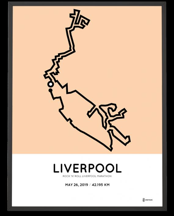 2019 Liverpool marathon course poster