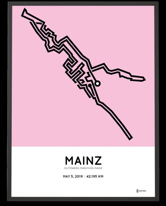 2019 Mainz marathon strecke poster