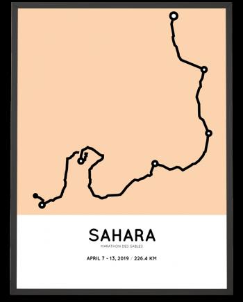 2019 Marathon des Sables coursemap poster