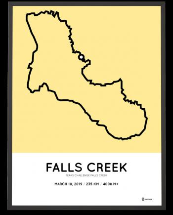 2019 Peaks challenge falls creek course poster