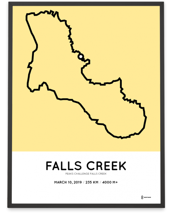 2019 Peaks challenge falls creek course poster