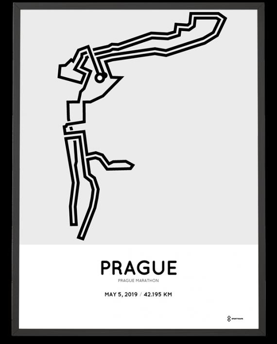2019 Prague marathon course poster