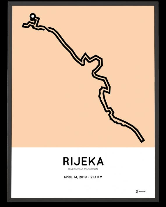 2019 Rijeka half marathon course poster