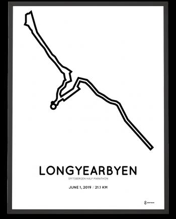 2019 Spitsbergen Arctic half marathon parcours sportymaps print