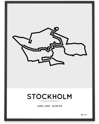2019 Stockhom marathon course poster