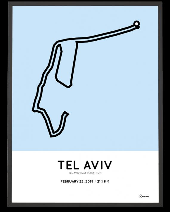 2019 Tel Aviv half marathon course poster