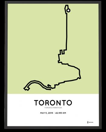 2019 Toronto marathon course poster