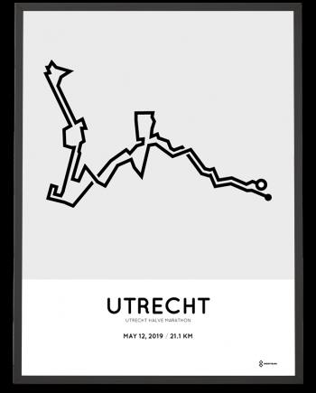 2019 Utrecht halve marathon parcours poster