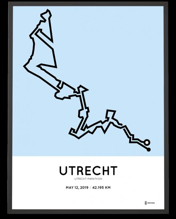 2019 Utrecht marathon route poster