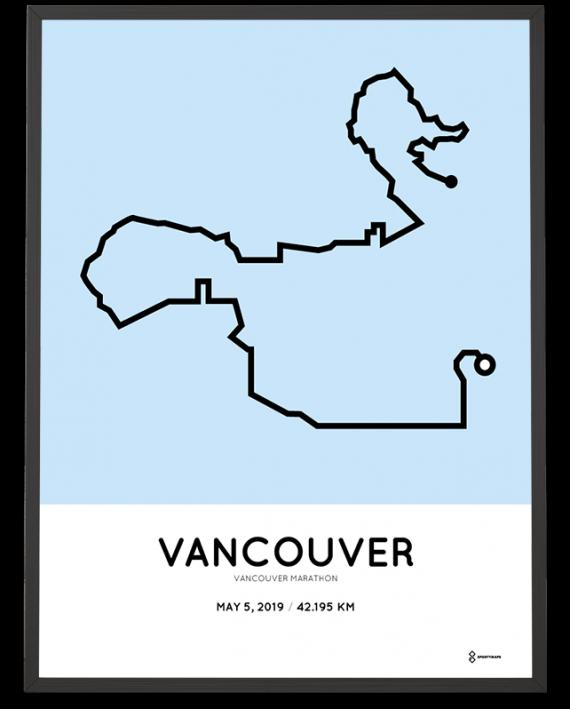 2019 Vancouver marathon course poster