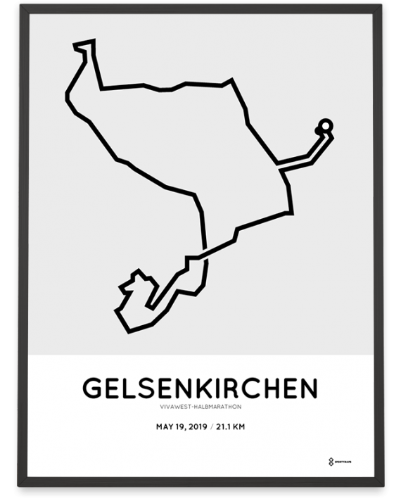 2019 Vivawest half marathon course poster