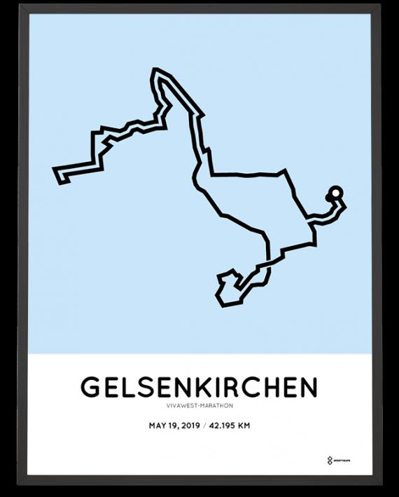 2019 Vivawest-marathon sportymaps strecke poster
