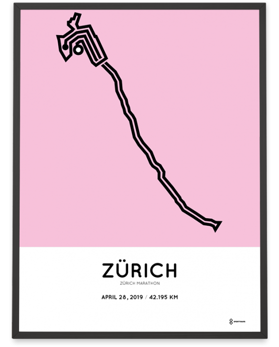 2019 Zurich marathon parcours poster