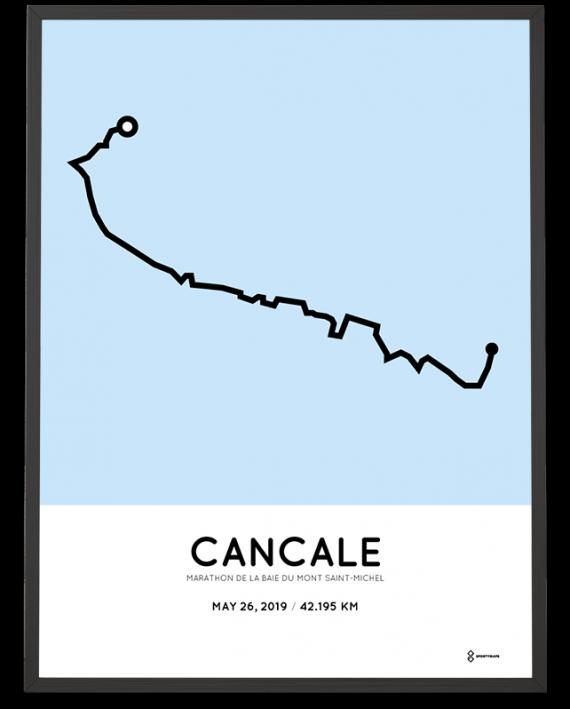 2019Marathon de la Baie du Mont Saint-Michel parcours poster