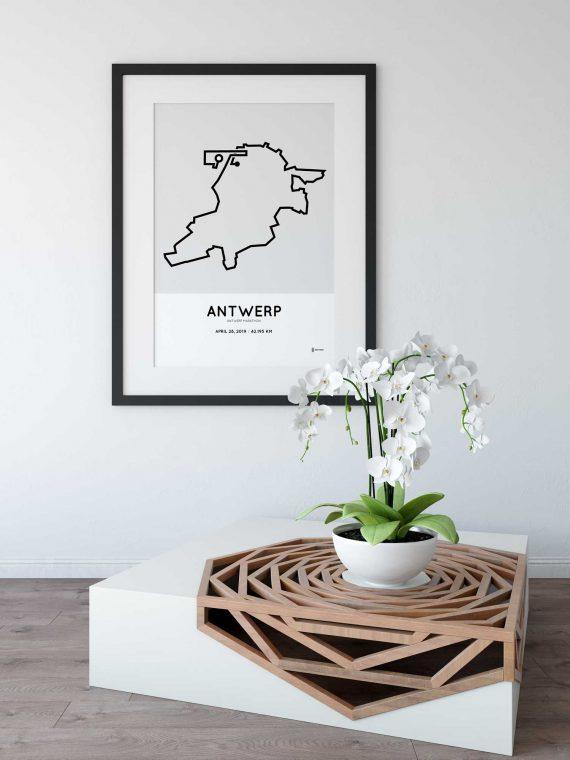 2019 Antwerpen marathon route poster