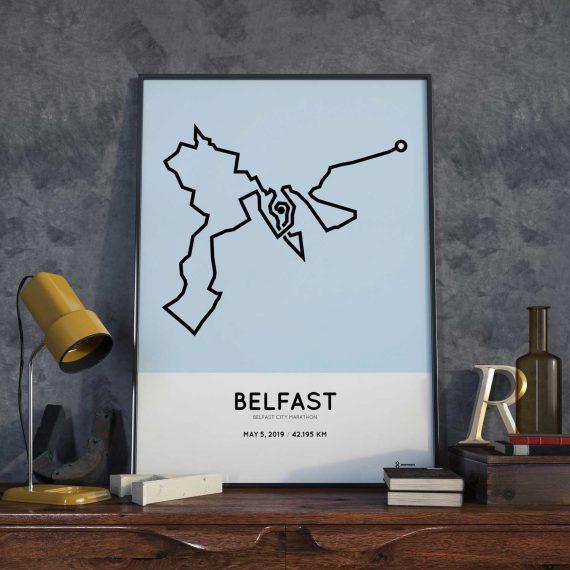 2019 Belfast city marathonmap print