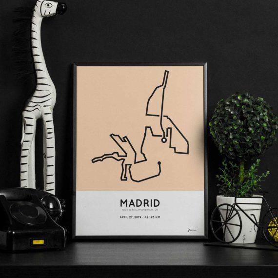 2019 Madrid marathon route poster sportymaps