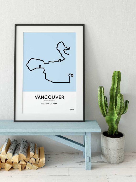 2019 Vancouver marathon parcours cadre
