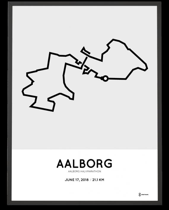 2018 Aalborg halvmarathon course poster
