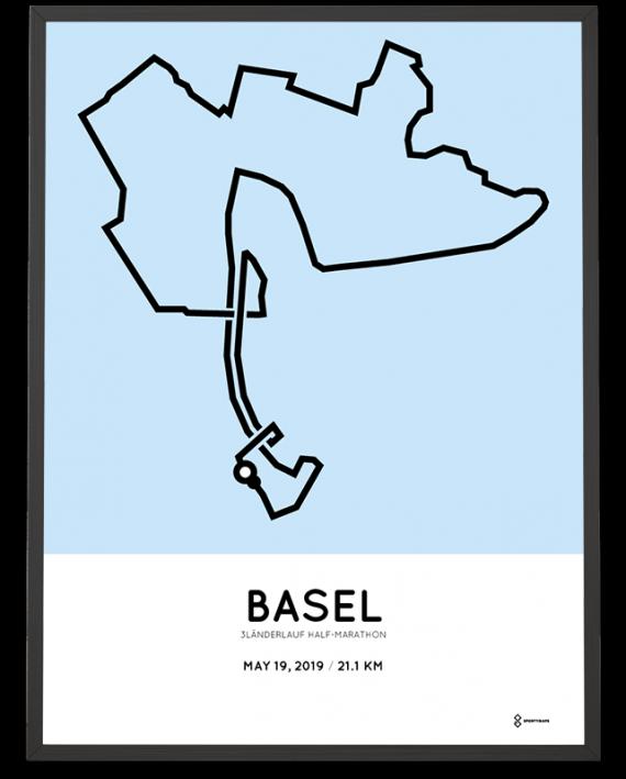 2019 3länderlauf half marathon strecke poster