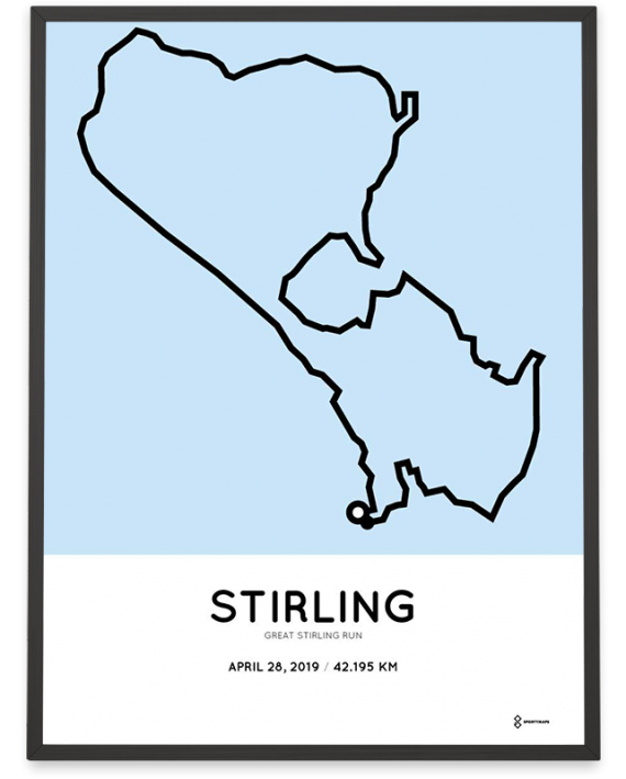 2019 Great Stirling Run course poster