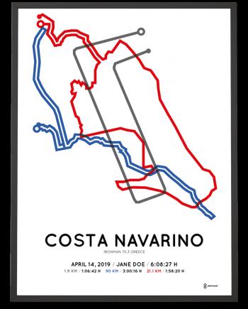 2019 Ironman 70.3 Greece course poster