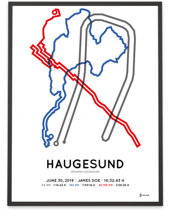 2019 Ironman Norway Haugesund course poster