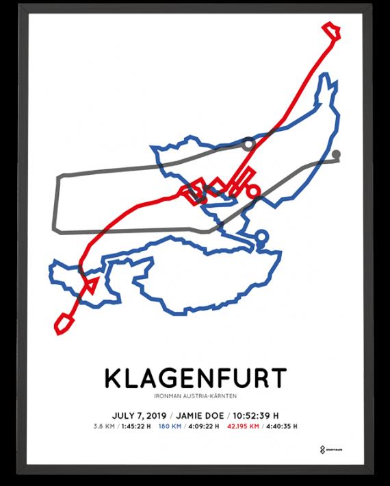 2019 Ironman Klagenfurt Austria course poster