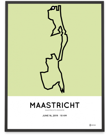 2019 Maastrichts mooiste 10km parcours poster