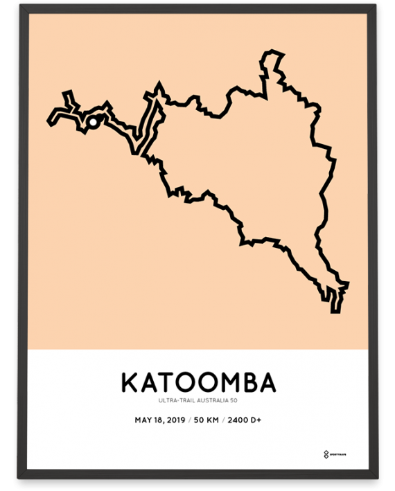 2019 ultra trail australia 50km uta course poster