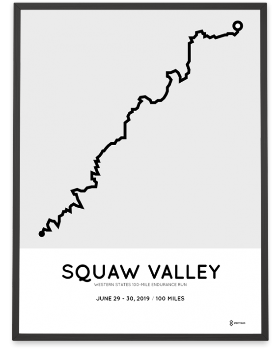 2019 western states 100 miles endurance run course poster