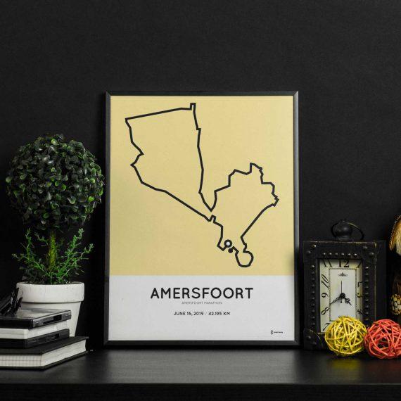 2019 Amersfoort marathon parcours print