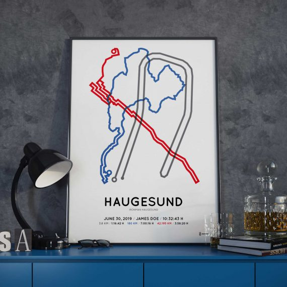 2019 Ironman Norway routemap poster
