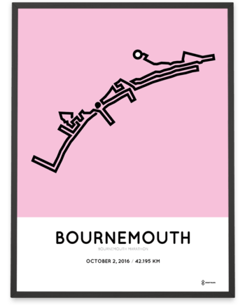 2016 Bournemouth marathon course poster