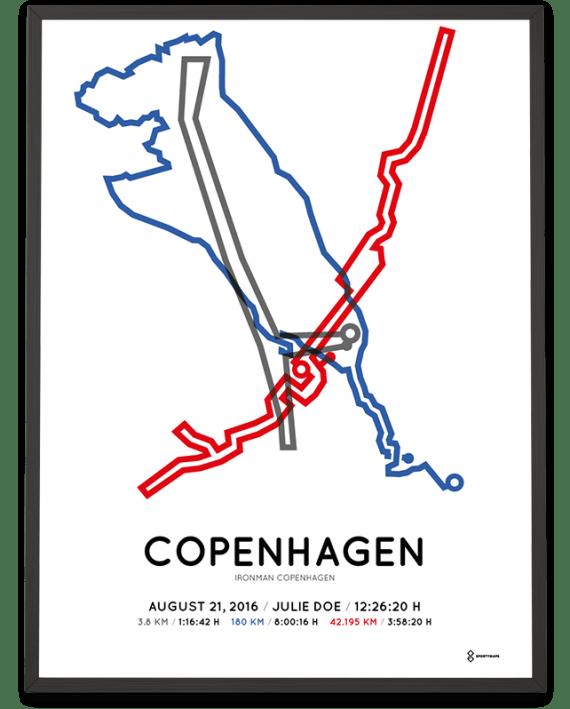 2016 Ironman Copenhagen Sportymaps print