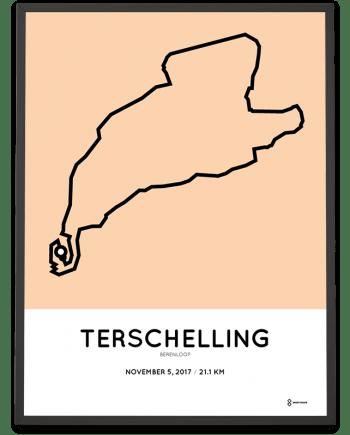 2017 Berenloop halve marathon parcours poster
