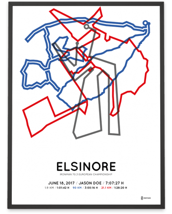 2017 Ironman 70.3 Elsinore course poster