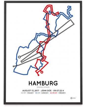 2017 Ironman Hamburg course poster color