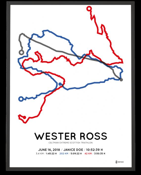 2018 Celtman Extreme Scottish-triathlon routemap print