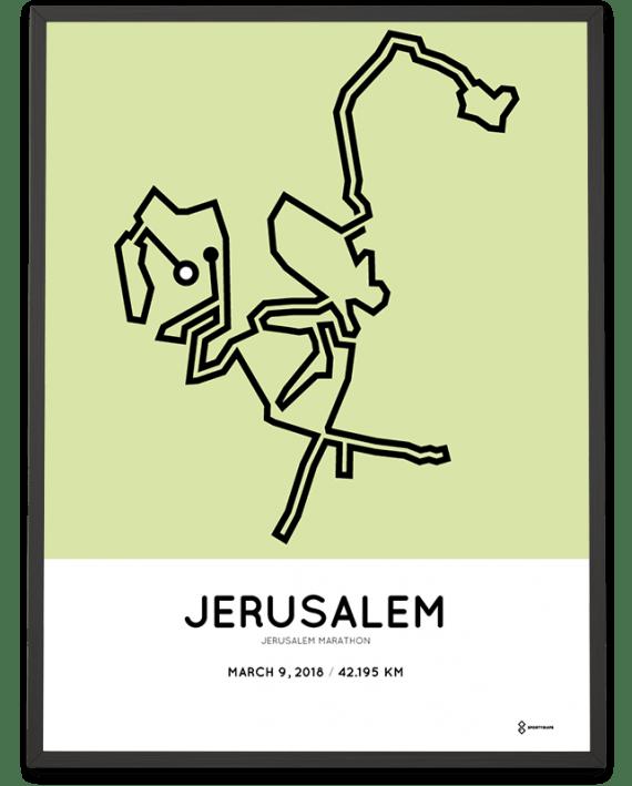 2018 Jerusalem marathon course poster