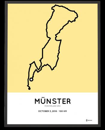 2018 Munsterland Giro 100km strecke print