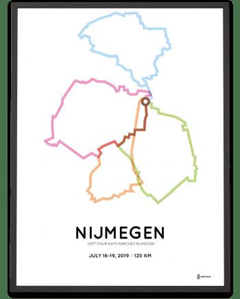 2019 4daagse nijmegen 120km route poster